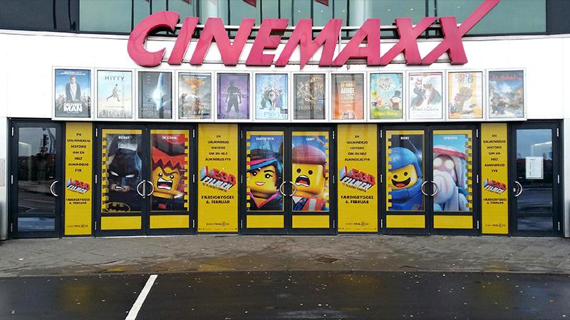 LEGO Filmen - Cinemaxx foliering af glasdøre